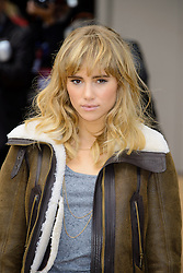 Arrivals for Burberry Prorsum Spring / Summer 2014. <br /> Suki Waterhouse arrives for the Burberry Prorsum Spring / Summer 2014 show, London, United Kingdom. Monday, 16th September 2013. Picture by Chris Joseph / i-Images