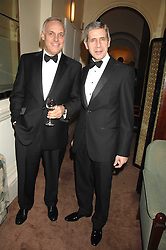 Left to right, NICK HOLLINGWORTH and SIR STUART ROSE at a party to celebrate the publication of Top Tips For Girls by Kate Reardon held at Claridge's, Brook Street, London on 28th January 2008.<br />