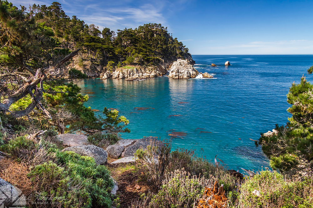 Point Lobos State Reserve looking west from near Whaler's Cove, near Carmel, California, Highway 1,