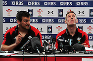 Wales rugby team press conference and team training at the Vale Resort, Hensol, near Cardiff on Thursday 31st Jan 2013. pic by Andrew Orchard, Andrew Orchard sports photography