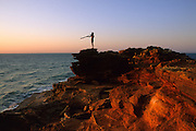 Broome. Gantheaume Point, Dugeridu is a typical Aboriginal musical wind instrument, loved by young  people.