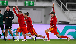 HELSINKI, FINLAND - Thursday, September 3, 2020: Wales' Ben Davies during the pre-match warm-up before the UEFA Nations League Group Stage League B Group 4 match between Finland and Wales at the Helsingin Olympiastadion. (Pic by Jussi Eskola/Propaganda)