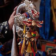 Mongolia. Mr Tserendolgor,  master shaman and Mrs Batzaya Otgonzaya the student shaman , during  a shamanic ceremony in a yurt  . Ulaan baatar