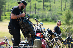 Hanging out at a nearby reservoir during the Run to Raton. Raton, NM. USA. Saturday July 21, 2018. Photography ©2018 Michael Lichter.
