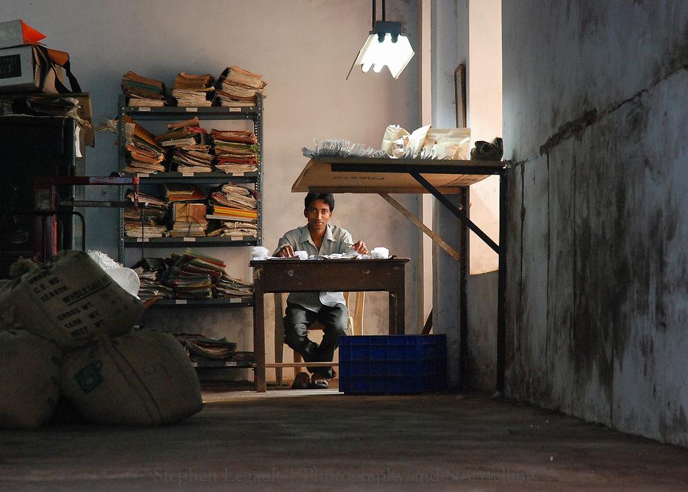 Spice Clerk, Cochi, India
