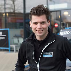 26-02-2016: Wielrennen: Persmoment Metec CT: Arnhem  <br /> ARNHEM (NED) wielrennen)<br /> Robin Chaigneau wisselde de fiets in deze winter voor een plek in de ploegleiderswagen bij Metec-TKH