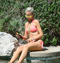 EXCLUSIVE: Lady Victoria Hervey soaks up the sun before she heads to the 2018 Coachella music festival!. 15 Apr 2018 Pictured: Lady Victoria Hervey. Photo credit: MEGA TheMegaAgency.com +1 888 505 6342