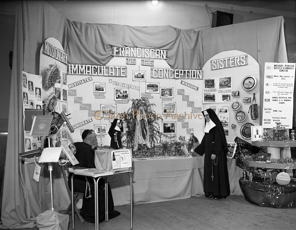 29/09/1959<br /> 09/29/1959<br /> 29 September 1959<br /> Franciscan exhibition at merchants Quay. Special for Fr Jude, Franciscan Fathers. Skerries Lloyds Shop Kilmainham, North WallPost Office, Old House off Lr Sheriff St. April 1987