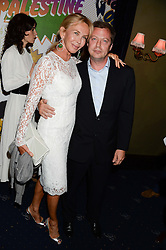 TRUDIE STYLER and MATHEW FREUD at the Hoping Foundation's 'Rock On' Benefit Evening for Palestinian refuge children held at the Cafe de Paris, London on 20th June 2013.