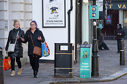 © Licensed to London News Pictures. 01/12/2020. <br /> Rochester, UK. Shoppers  in Rochester High Street in Medway, Kent today. Kent has two of the worst effected Coronavirus areas in England with Medway behind Swale despite a fall in infections. Kent will be placed in tier 3 tomorrow when the lockdown ends. Photo credit:Grant Falvey/LNP