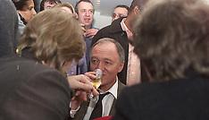 Ken Livingstone Champagne on Election Night 2000