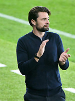 Football - 2021 / 2022 EFL Carabao Cup - Round Two - Swansea City vs Plymouth Argyle - Liberty Stadium - Tuesday 24th August 2021<br /> <br /> Swansea Manager Russell Martin  applauds his team's final goal on the touchline<br /> <br /> COLORSPORT/WINSTON BYNORTH