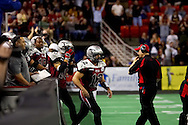 4/12/2007 - The Alaska Wild offense hits the field but could only score 33 points against the 46 points by the Frisco Thunder in the first professional football game in Alaska.