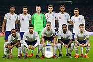 England players line up during the Friendly match between Netherlands and England at the Amsterdam Arena, Amsterdam, Netherlands on 23 March 2018. Picture by Phil Duncan.