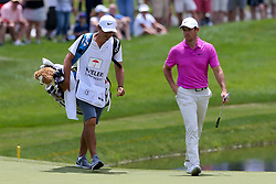 June 22, 2018 - Cromwell, Connecticut, United States - Rory McIlroy (R) and his caddie approach the 8th green during the second round of the Travelers Championship at TPC River Highlands. (Credit Image: © Debby Wong via ZUMA Wire)