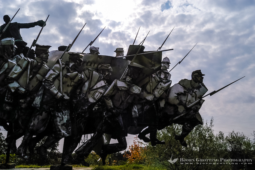 Budapest, Hungary.  Memento Park with 42 pieces of art from the Communist era.