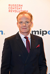 Alistair Petrie poses as arriving for the opening ceremony of the MIPCOM in Cannes - Marche international des contenus audiovisuels du 16-19 Octobre 2017, Palais des Festivals, Cannes, France.<br />Exhibition MIPCOM (International Market of Communications Programmes) at Palais des Festivals et des Congres, Cannes (Photo by Lionel Urman/Sipa USA)