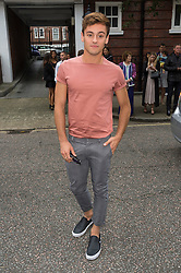 © Licensed to London News Pictures. 17/09/2016.  TOM DALY arrives for the JULIEN MACDONALD Spring/Summer 2017 show. Models, buyers, celebrities and the stylish descend upon London Fashion Week for the Spring/Summer 2017 clothes collection shows. London, UK. Photo credit: Ray Tang/LNP