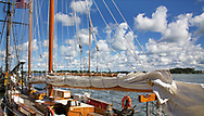 A sailing ship at dock during the Perry 200 Commemoration, September 2013, Erie Pennsylvania, USA