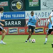 Besiktas's new Sidnei Rechel da Silva Júnio (C) during their new season training at BJK Nevzat Demir training center in Istanbul, Turkey, 30 June 2011. Photo by TURKPIX