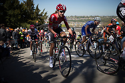 Jessie Daams (BEL) of Lotto Soudal Cycling Team rides up the Mur de Huy during the first lap of the Flèche Wallonne Femmes - a 137km road race from starting and finishing in Huy on April 20, 2016 in Liege, Belgium.