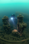 The wreck of the Laurentic, an Ocean Liner sunk in WW1 carrying a huge cargo of gold. Lies at 40 metres depth
