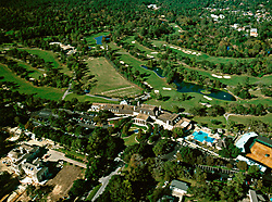 Aerial view of the River Oaks Country Club in Houston, Texas.