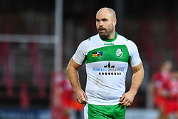11th November 2018 , Racecourse Ground,  Wrexham, Wales ;  Rugby League World Cup Qualifier,Wales v Ireland ; Liam Finn of Ireland <br /> <br /> <br /> Credit:   Craig Thomas/Replay Images
