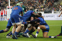 Furious maul during Rugby Natwest 6 Nations Tournament, France vs Ireland at the Stade de France stadium in Saint-Denis, France, on February 3, 2018. Ireland won 15-13. Photo by Henri Szwarc/ABACAPRESS.COM
