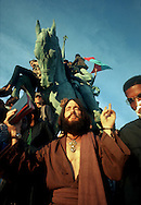 A 28.5 MG IMAGE OF:..Hippies in Grant Park duing the Democratic Convention in 1967..Photo by Dennis Brack  B 4
