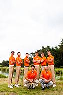 29-06-2016 Foto's van de ELTK teams op het Rijk van Nunspeet. ELTK team BOYS.<br /> Achter vlnr: Nordin van Tilburg, Jerry Ji, Mike Toorop, Stan Kraai, Maarten van Mourik, Koen Kouwenaar<br /> Voor vlnr: Inder van Weerelt (coach), John Bleys (coach