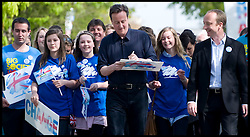 Leader of the Conservative Party David Cameron during a rally at Palmer's College at Grays, Essex, Saturday April 24, 2010. Photo By Andrew Parsons / i-Images.