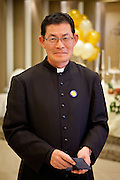 """Portrait of a priest during the so called """"Dol"""" (in Korean language) celebration for the first birthday of a child."""
