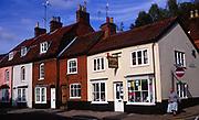 A083G9 Art shop and terraced buildings Woodbridge Suffolk England