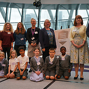 "City Hall, London, Uk, 29th June 2017. Highfield Junior School, La Fontaine Academy, St Philomena's CP School, St Peter and St Paul Catholic Primary Academy, Warren Road Promary ""silver Awards"" of the City Hall awards at the Health and education experts celebrate London's healthiest schools."