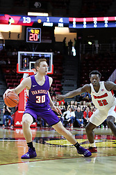 NORMAL, IL - January 05: .ea30 defended by Malik Yarbrough during a college basketball game between the ISU Redbirds and the University of Evansville Purple Aces on January 05 2019 at Redbird Arena in Normal, IL. (Photo by Alan Look)