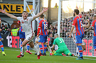 Sheffield United's Jack O'Connell celebrates after Crystal Palace's goalkeeper Vicente Guaita scores an own goal to make it 1-0 during the Premier League match at Selhurst Park, London. Picture date: 1st February 2020. Picture credit should read: Paul Terry/Sportimage