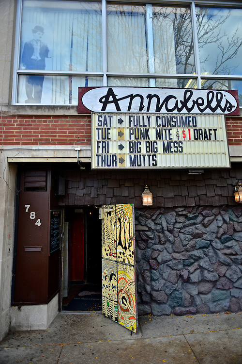 Front entrance of Annabell's Lounge.
