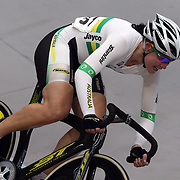 Katherine Bates, Australia, in action during the Women Omnium at the 2012 Oceania WHK Track Cycling Championships, Invercargill, New Zealand. 21st November  2011. Photo Tim Clayton4