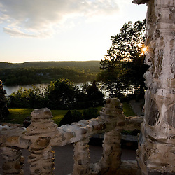 The view from the second floor of Gillette Castle in East Haddam, Connecticut.   Gillette Castle State Park.
