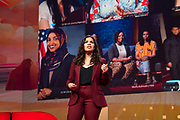 America Ferrera speaks at TED2019: Bigger Than Us. April 15 - 19, 2019, Vancouver, BC, Canada. Photo: Bret Hartman / TED