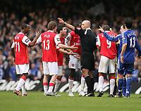 Photo: Rich Eaton.<br /> <br /> Chelsea v Arsenal. Carling Cup Final. 25/02/2007. referee Howard Webb sends Arsenals Emmanuel Adebayor off in the second half