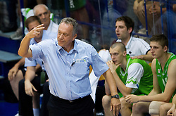 Zmago Sagadin, head coach of Slovenia during basketball match between National teams of Turkey and Slovenia in Qualifying Round of U20 Men European Championship Slovenia 2012, on July 17, 2012 in Domzale, Slovenia. Slovenia defeated Turkey 72-71 in last second of the game. (Photo by Vid Ponikvar / Sportida.com)