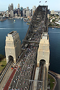 2010 Sydney Running Festival <br /> SYDNEY, AUSTRALIA.<br /> Aerial Pictures taken during the 2010 SYDNEY RUNNING FESTIVAL around Lady Macquarie's Chair and the Domain ,Opera House and the Harbour Bridge.