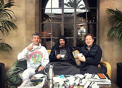 """Thomas Hayo releases a photo on Instagram with the following caption: """"#Kaffeekr\u00e4nzchen Rainy Sunday with @andresaraiva \u0026 @henryalex #chateau #inmates #homeawayfromhome"""". Photo Credit: Instagram *** No USA Distribution *** For Editorial Use Only *** Not to be Published in Books or Photo Books ***  Please note: Fees charged by the agency are for the agency's services only, and do not, nor are they intended to, convey to the user any ownership of Copyright or License in the material. The agency does not claim any ownership including but not limited to Copyright or License in the attached material. By publishing this material you expressly agree to indemnify and to hold the agency and its directors, shareholders and employees harmless from any loss, claims, damages, demands, expenses (including legal fees), or any causes of action or allegation against the agency arising out of or connected in any way with publication of the material."""