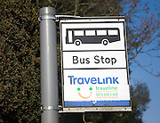 TravelLink rural bus stop sign, Suffolk, England