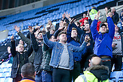 Morecambe  fans during the The FA Cup match between Coventry City and Morecambe at the Ricoh Arena, Coventry, England on 15 November 2016. Photo by Simon Davies.