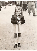 little girl portrait France ca 1940s