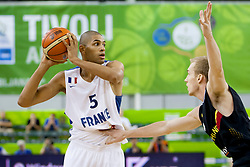 04.09.2013, Hala Tivoli, Ljublijana, SLO, Eurobasket EM 2013, Frankreich vs Deutschland, im Bild Nicolas Batum #5 of France // during the Eurobasket EM 2013 match between France and Germany at Hala Tivoli in Ljubljana, Slowenia on 2013/09/04. EXPA Pictures © 2013, PhotoCredit: EXPA/ Sportida/ Urban Urbanc<br /> <br /> ***** ATTENTION - OUT OF SLO *****
