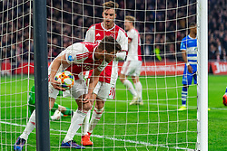 13-03-2019 NED: Ajax - PEC Zwolle, Amsterdam<br /> Ajax has booked an oppressive victory over PEC Zwolle without entertaining the public 2-1 / Klaas Jan Huntelaar #9 of Ajax, Nicolas Tagliafico #31 of Ajax